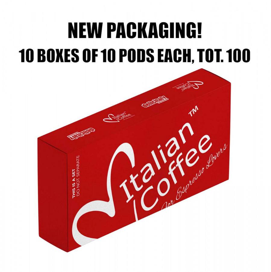 Italian Coffee pods (Passione) DELICITALY, 100 capsules