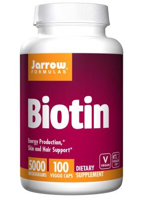 Биотин 5000 мкг Jarrow, 100 капсул
