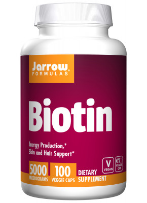 Biotin 5000 mcg Jarrow, 100 Veggie Caps