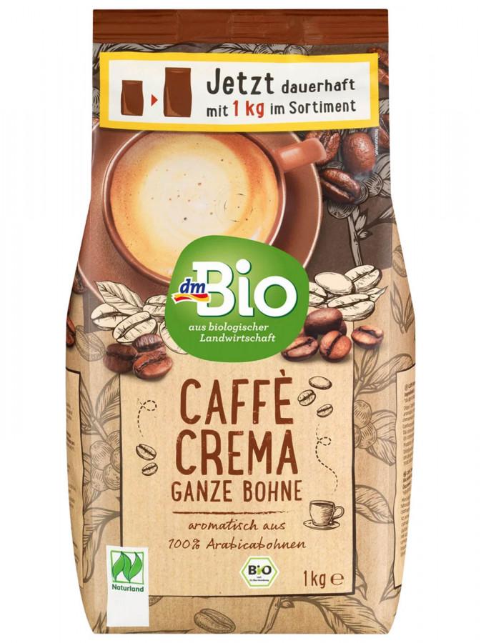 Kaffee, Caffè Crema, ganze Bohne, Naturland dmBio, 1 kg
