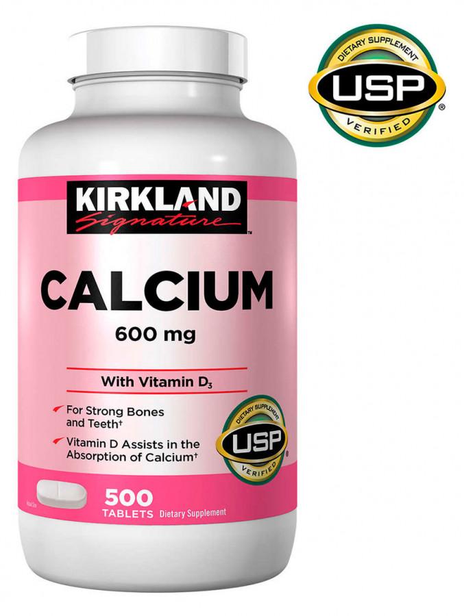 Kirkland Signature Calcium 600 mg. with Vitamin D3, 500 Tablets