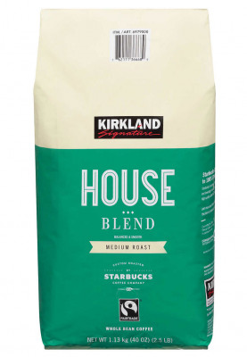 Kirkland Signature House Blend Coffee, Medium Roast, Whole Bean, 2.5 lbs