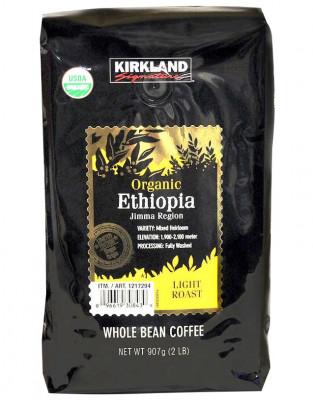 Kirkland Signature Organic Ethiopia Whole Bean Coffee, 2 lbs