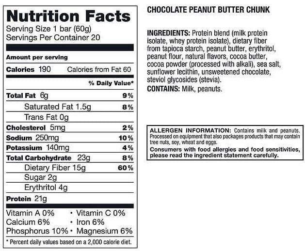 Kirkland Signature Protein Bar, Chocolate Peanut Butter Chunk, 1 ct