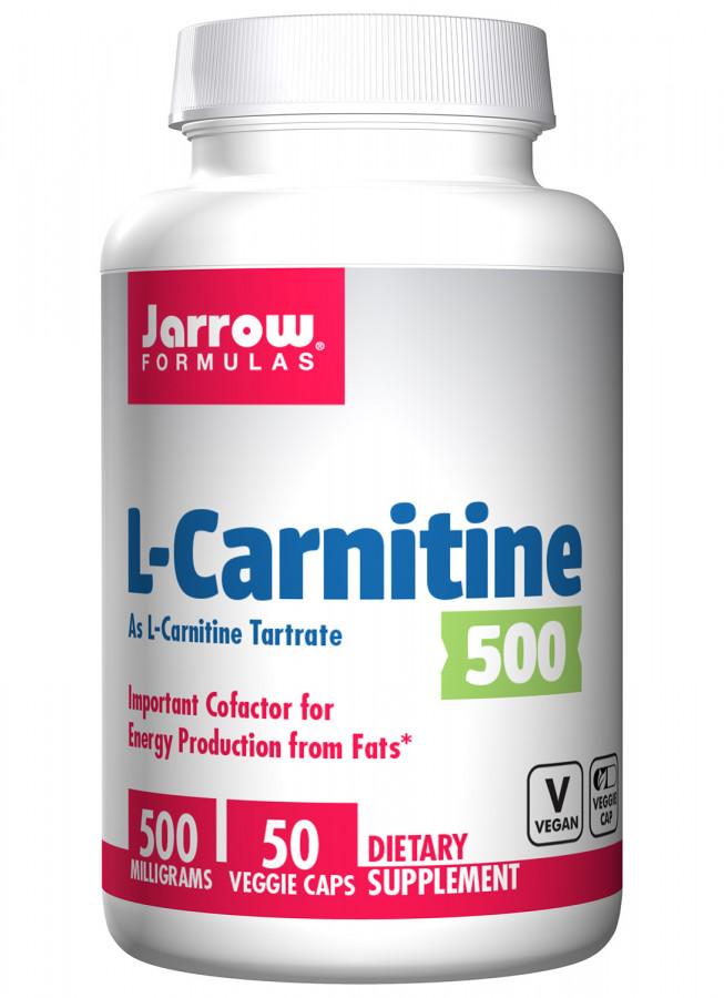 L-карнитин 500 мг Jarrow, 50 капсул