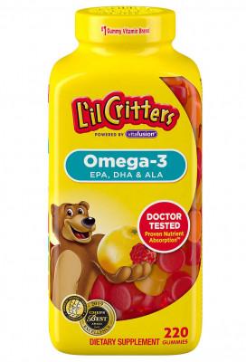 L'il Critters Омега-3, 220 жевательных таблеток