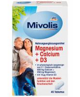 Магний, кальций и D3 Mivolis dm, 45 капсул