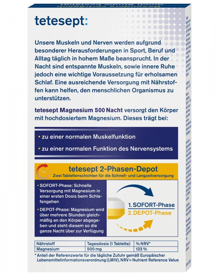 Magnesium tetesept 500 mg, 30 pieces