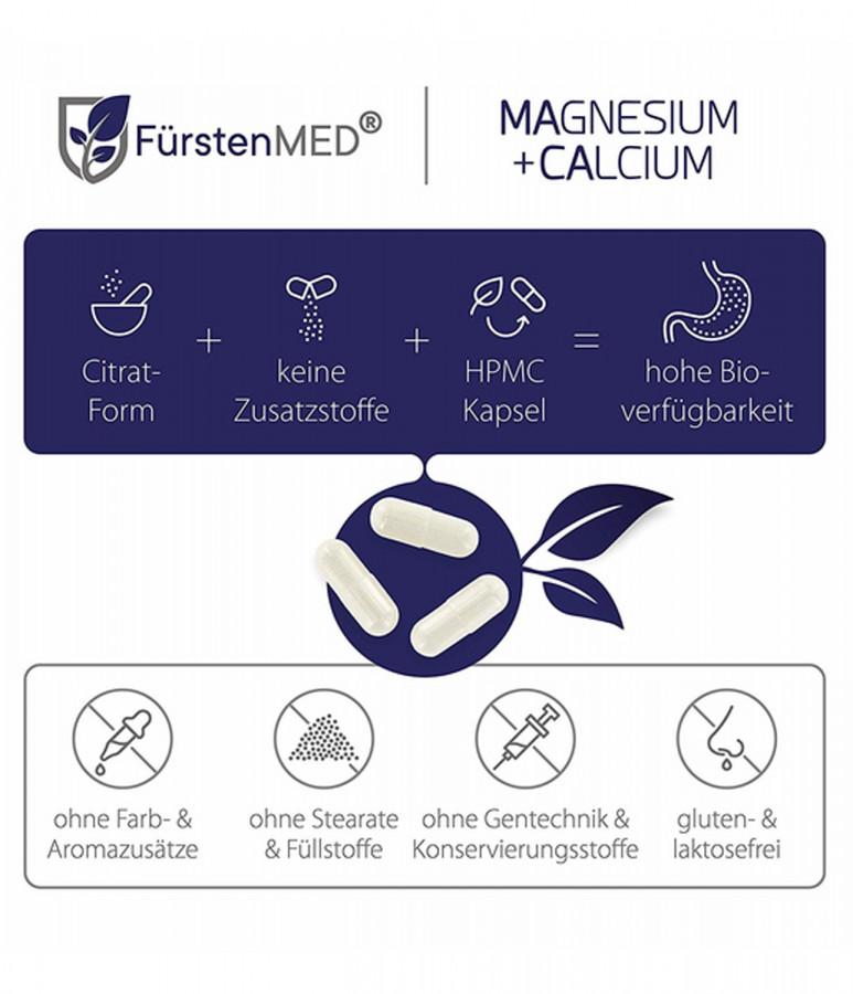 Цитрат магния + цитрат кальция FürstenMED, 120 капсул