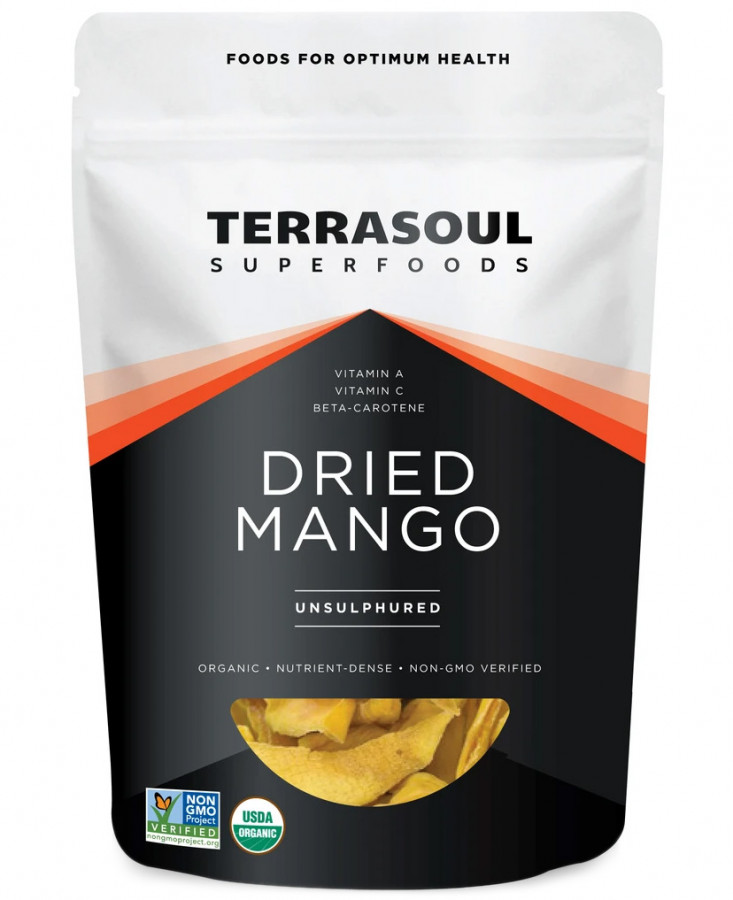 Кусочки сушеного манго Terrasoul, 110 г