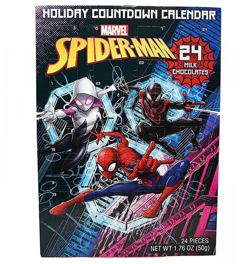 Marvel Spiderman Chocolate Advent Calendar with 24 Milk Chocolates