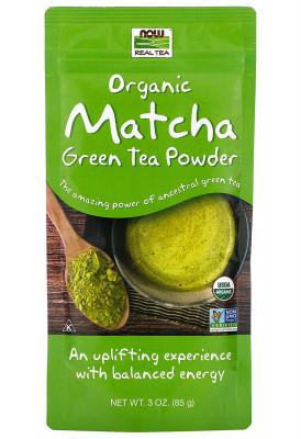 Matcha Organic Green Tea Powder NOW Foods, 3 oz