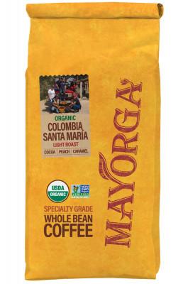 Кофе в зернах Mayorga Organics Colombia Santa María, 900 г