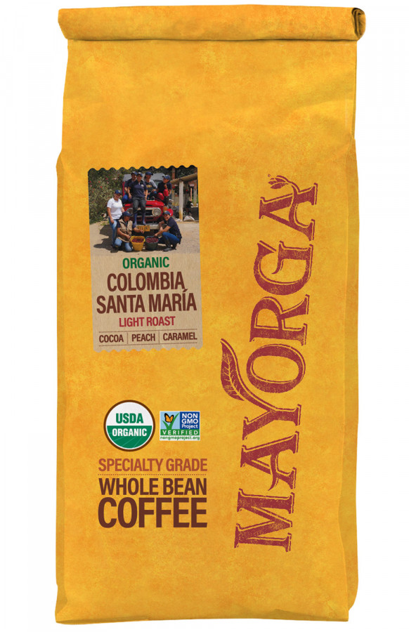 Mayorga Organics Colombia Santa María whole bean coffee, 2 lb