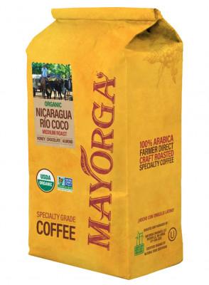 Кофе молотый Mayorga Organics Nicaragua Río Coco, эспрессо, 900 г
