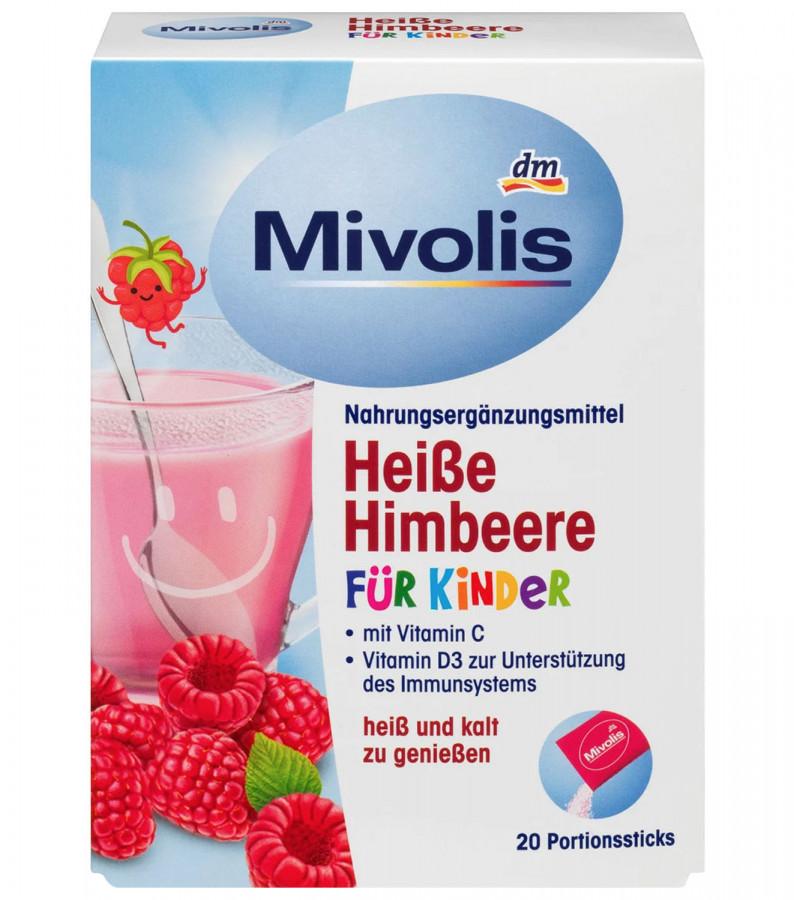 Горячий напиток для детей со вкусом малины Mivolis, 20 пачек