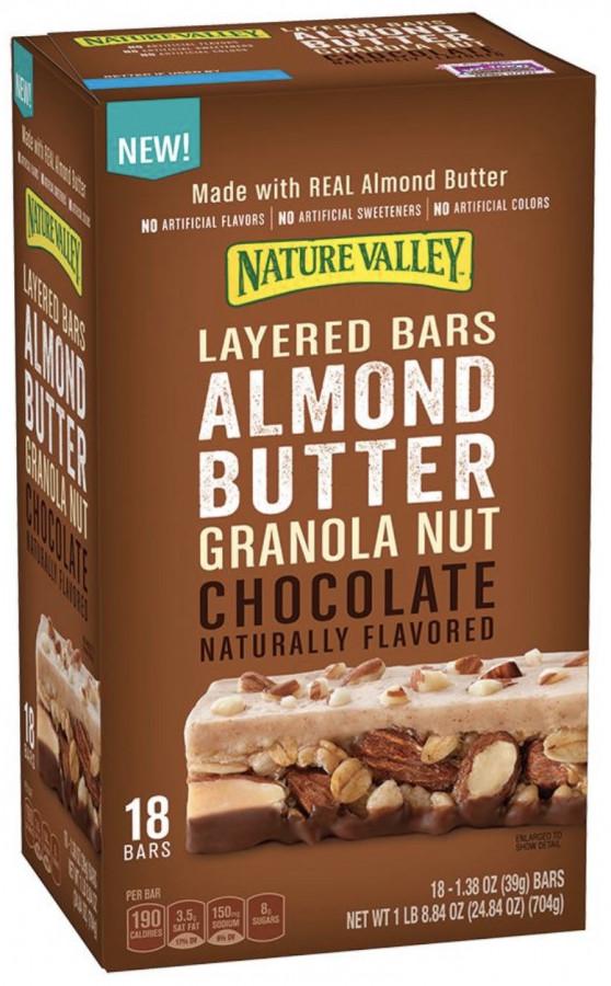 Батончики с миндальной пастой, гранолой и шоколадом Nature Valley, 18 шт.