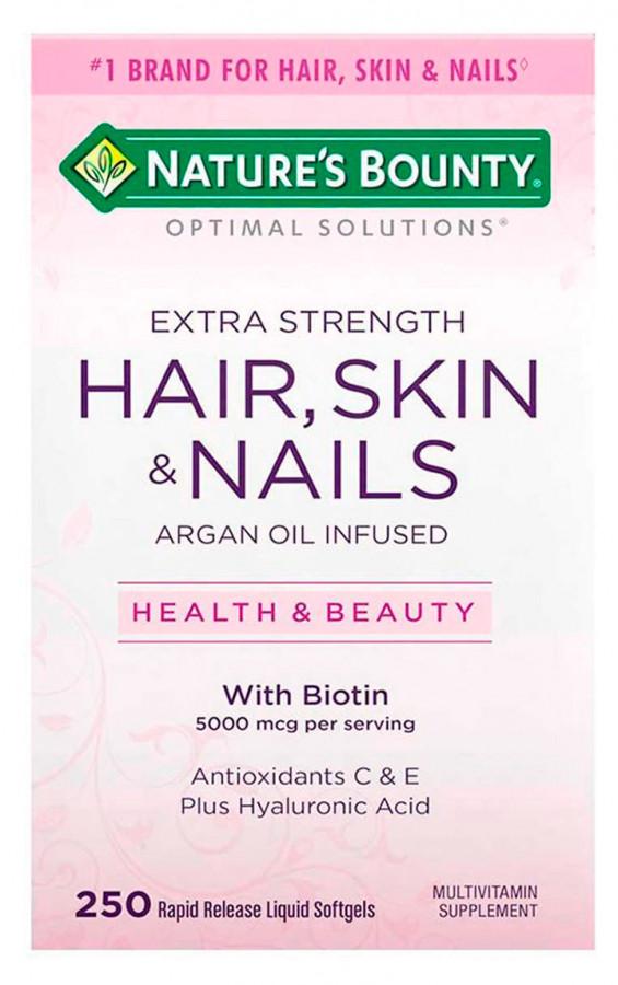 Nature's Bounty Hair, Skin and Nails, 250 Softgels