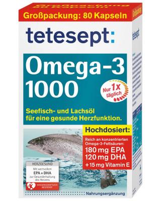 Омега-3 1000 мг tetesept, 80 капсул