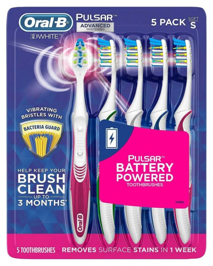Электрические зубные щетки Oral-B 3D White Pulsar, 5 шт.