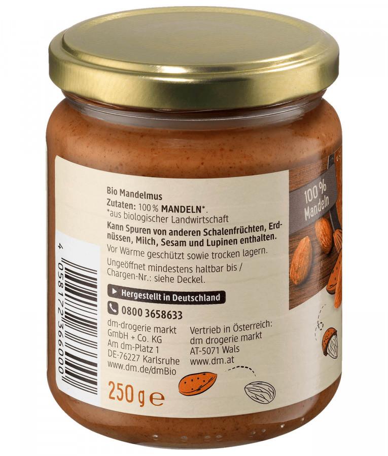 Organic Almond butter dmBio, 250 g