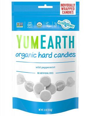 Органические мятные леденцы YumEarth, 93.6 г