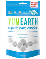 Organic peppermint hard candy YumEarth, 3.3 oz