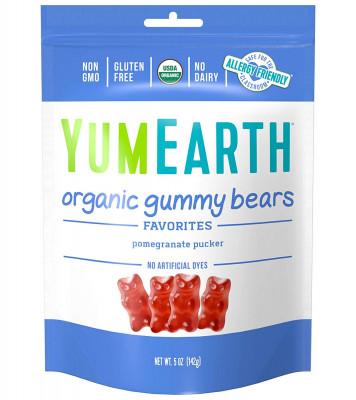 Organic Pomegranate Pucker Gummy Bears YumEarth, 6-pack