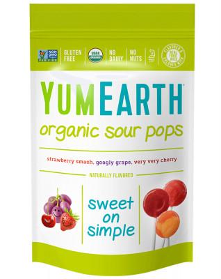 Organic Sour Lollipops YumEarth, 14 qt