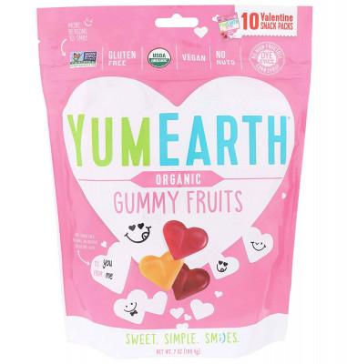 Жевательные конфеты YumEarth на День Святого Валентина, 10 пачек