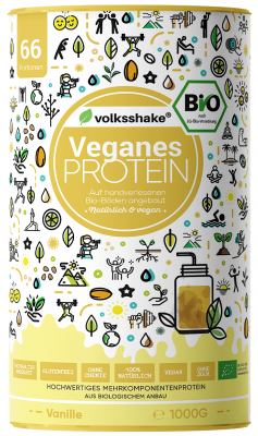 Organic Vanilla Vegan PROTEIN Volksshake, 1 kg