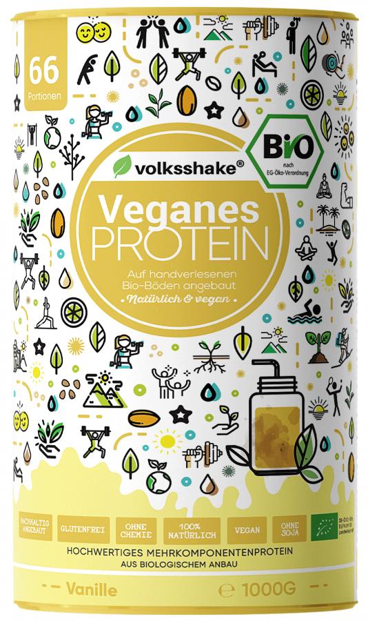 Веганский и органический протеин c ванилью Volksshake, 1 кг