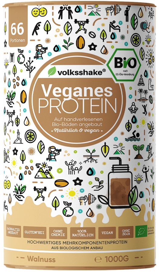 Organic walnut vegan PROTEIN Volksshake, 1 kg