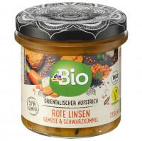Orientalischer Aufstrich Rote Linsen Gemüse & Schwarzkümmel dmBio, 135 g