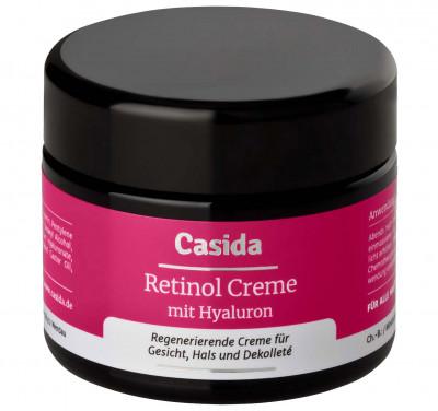 Retinol Creme mit Hyaluron Casida, 50 ml