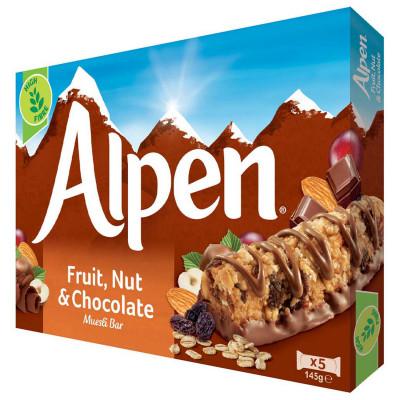 Riegel Fruit, Nut & Chocolate bars Alpen, 5 ct