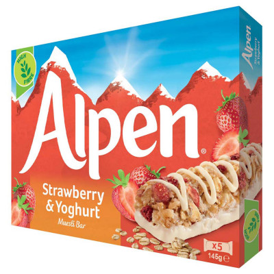 Riegel Strawberry & Yoghurt bars Alpen, 5 ct