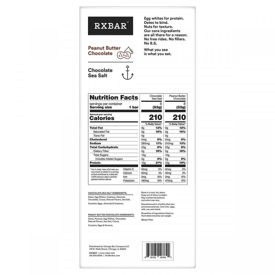 RXBAR Protein Bar, Variety Pack, 16-ct.