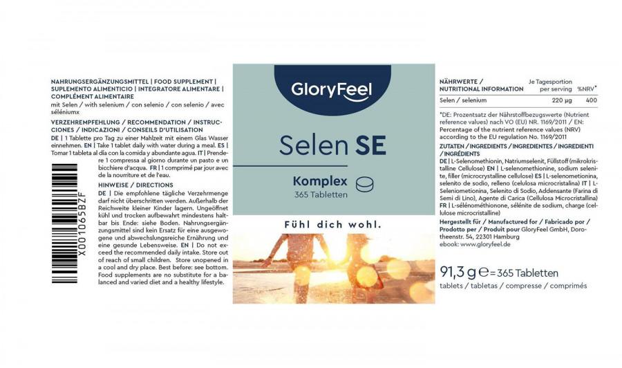 Selen  GloryFeel, 365 Tabletten