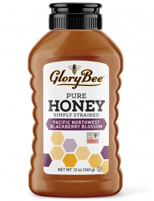 Simply Strained Pacific Northwest Blackberry Honey GloryBee, 12 oz