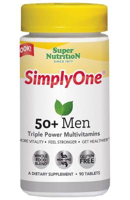 Комплекс витаминов для мужчин 50+ SuperNutrition, 90 таблеток