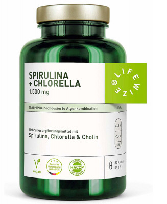 Спирулина + Хлорелла LifeWize, 180 капсул