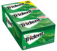 Жевательная резинка Trident со вкусом мяты, 15 шт.