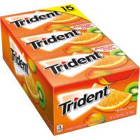 Trident Sugar Free Gum, Tropical Twist, 15-count