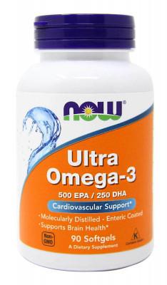 Ультра-Омега-3 NOW, 90 капсул