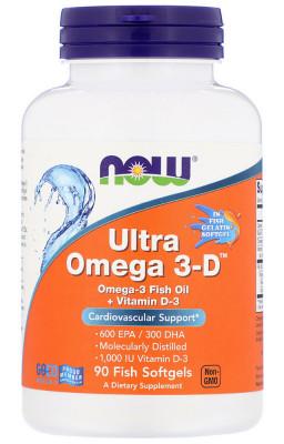 Ультра-Омега 3-D NOW, 90 капсул