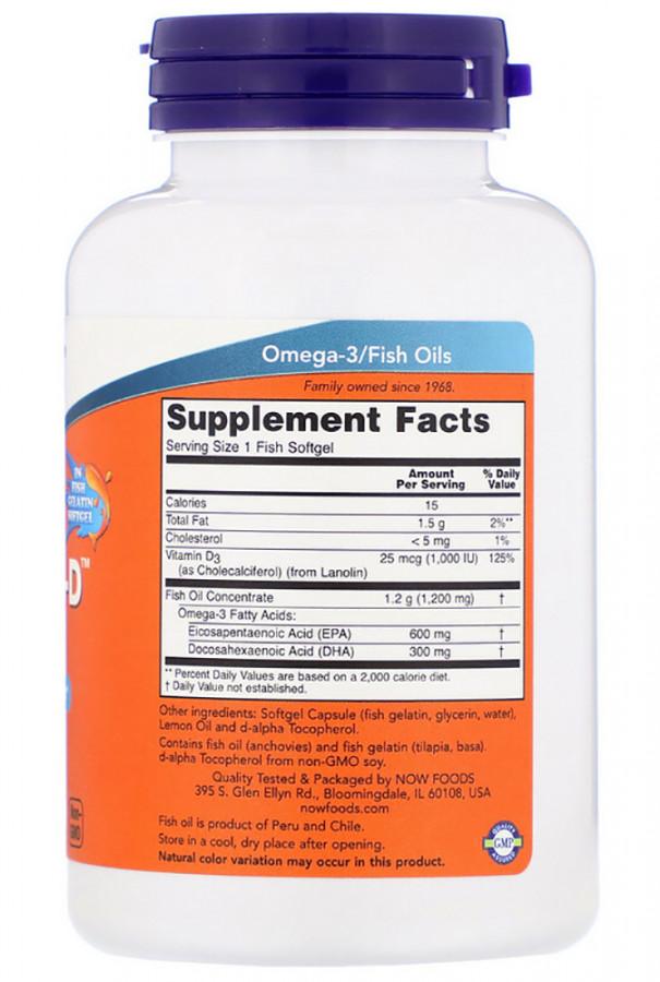 Ultra Omega 3-D™ (Fish Gelatin) Fish NOW, 90 Softgels