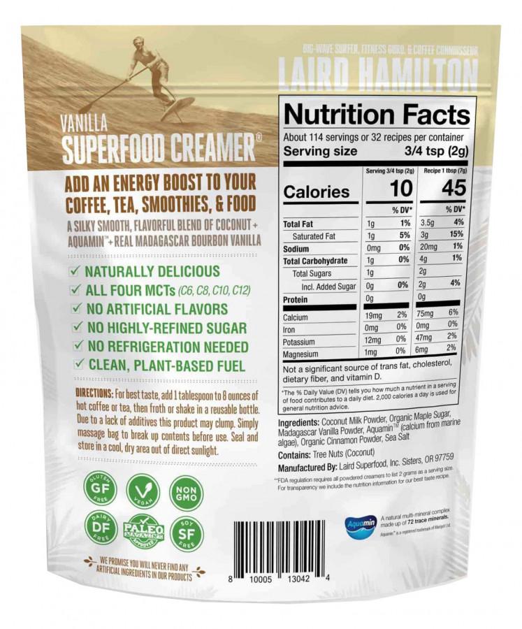 Сливки с ароматом ванили Laird Superfood, 220 г