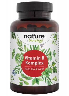 Vitamin B complex Forte Gloryfeel, 200 nature capsules