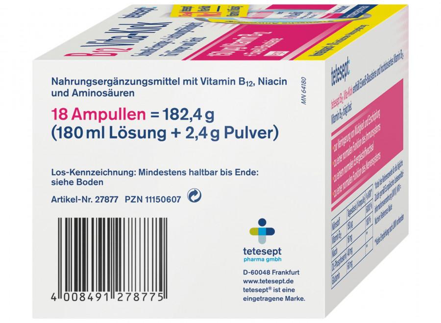 Питьевые ампулы витамина B12 tetesept, 18 шт.